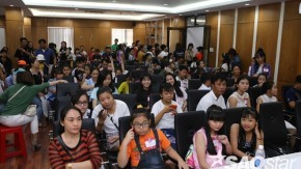 Buổi sơ tuyển thu hút khá đông lượng thí sinh nhí.