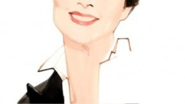 Hình illustration concept của Isabelle Rossellini với vai trò đại diên Lancôme năm nay.