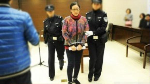 """Tại tòa, Li thừa nhận đã đánh con trai nuôi nhưngcônhất mực khẳng định """"không đánh quá mạnh"""" mà chỉ mang tínhcảnh cáo """"nhẹ nhàng""""."""