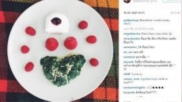Nam diễn viên Thái Lancòn yêudâu tây đến mức tự tay làm bữa sáng với nguyên liệu chính là loại quả này.