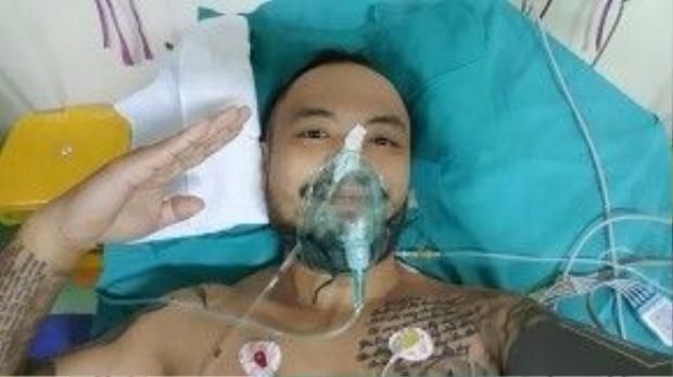 Trần Lập vẫn giữ tinh thần lạc quan khi điều trị bệnh.