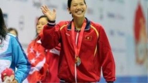 Ánh Viên, cô gái vàng của làng thể thao Việt Nam.