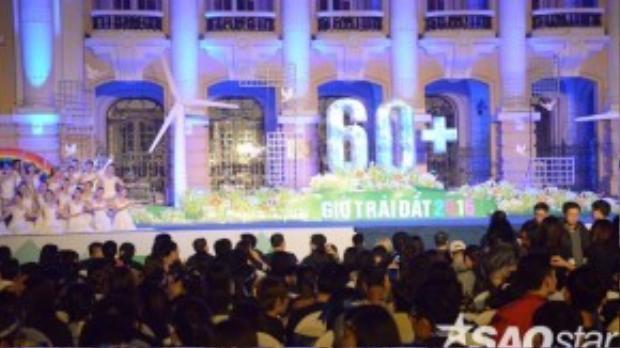 Quảng trường Cách mạng Tháng 8, nơi diễn ra chương trình Giờ Trái đất
