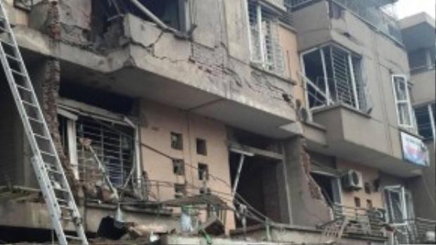 Tổng cộng 36 ngôi nhà gần nơi xảy ra vụ nổ bị hư hại nặng. Tiếng nổ có thể nghe thấy từ khoảng cách 4-5 km.