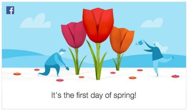 Tại sao Facebook thông báo: Hôm nay là ngày đầu xuân vào giữa tháng 3
