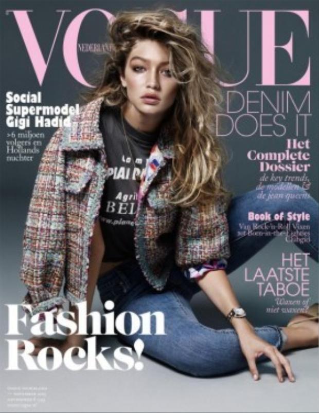 2014 là năm đại thắng của Gigi khi cô liên tục chụp hình cho VMAN, Elle, Grazia, Cleo, Vogue, Sports Illustrated…