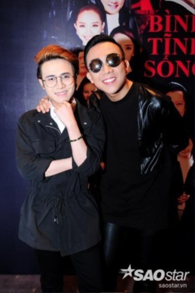 Trấn Thành và Huỳnh Lập trong buổi họp báo công bố liveshow.