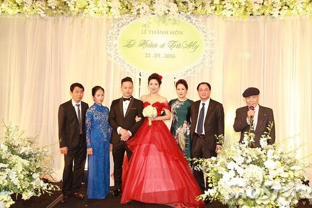 Á hậu Ngô Trà My lộ bụng bầu với bạn trai đại gia trong tiệc cưới