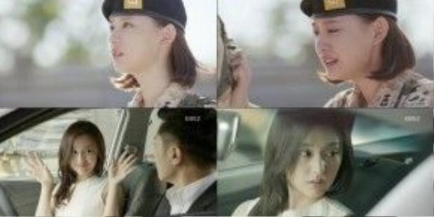 Dù hơn 80% vai của cô ấy toàn mặc quân phục và để tóc ngắn, nhưng có những cảnh quay khi rời quân ngũ thế này, mái tóc dài hờ hững ngang lưng thực sự giúp Kim Ji Won ghi điểm trong lòng khán giả.