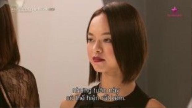 Theo host Cindy, Quỳnh Mai đã bị xuống phong độ ở tuần này.