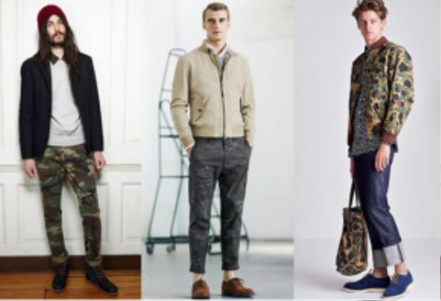 Không chỉ xuất hiện trên quần áo, camo còn xuất hiện trên cả những món phụ kiện như giày dép, túi xách…