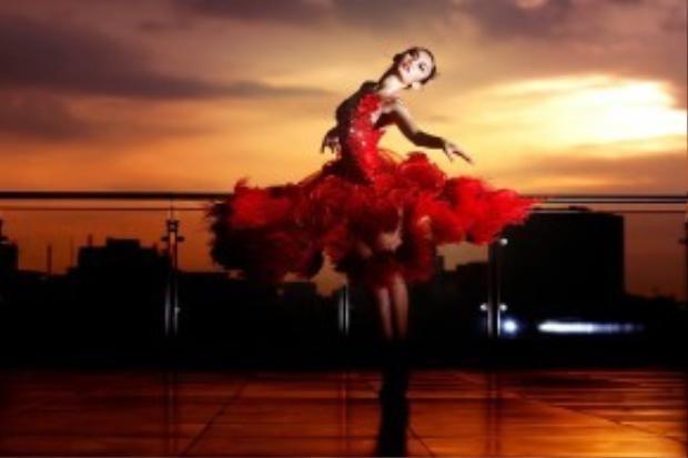 Mỹ An vốn được biết đến là kiện tướng dancesport từ khi còn rất trẻ.