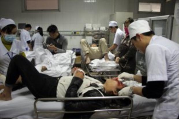 Vụ tai nạn khiến 8 người bị thương.