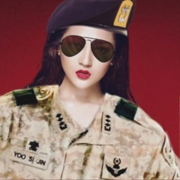 Nữ quân nhân Bảo Anh vô cùng xinh đẹp.