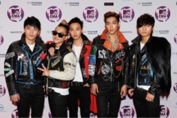 Big Bang đạt giải Worldwide act tại MTC Châu Âu 2011.