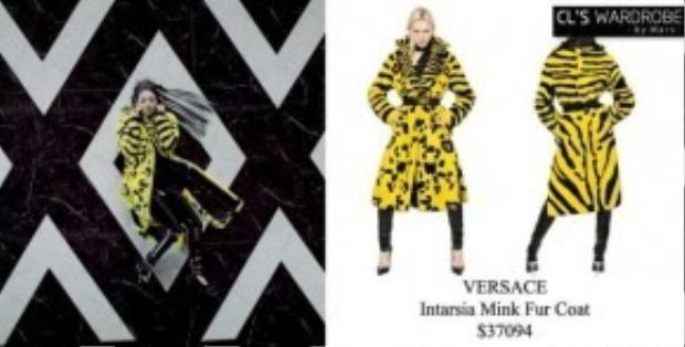 Về nhất trong danh sách những sao sở hữu các món đồ hiệu đắt tiền là CL (2NE1). Cùng trong MV Missing You, chiếc áo choàng lông vàng kẻ sọc của cô nàng đến từ thương hiệu nổi tiếng Versace, giá trị khoảng 835 triệu VNĐ.