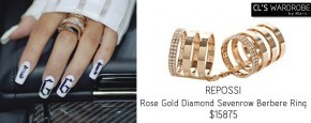 Không quá lời khi nói CL là cô nàng ham mê đồ hiệu. Nàng ca sĩ chi mạnh tay cho cả những món đồ phụ kiện. Chiếc nhẫn vàng trên tay cô đến từ thương hiệu Sevenrow Berbere Ring có giá 358 triệu VNĐ.