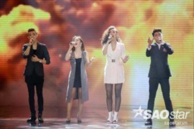 Noo Phước Thịnh, Hương Tràm, Soobin Hoàng Sơn, Maya cùng hòa giọng trong ca khúc mở màn đêm Gala trao giải The Remix 2016.