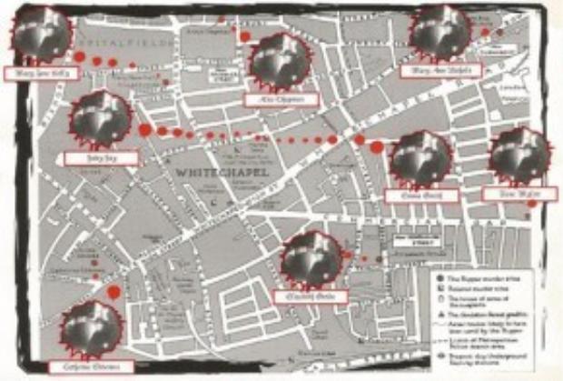 Bản đồ địa điểm tour sẽ đi qua tại khu Whitechapel. Ảnh: londonhorrortours.