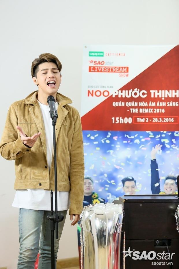 Tan chảy với phiên bản acoustic 2 siêu hit của Noo Phước Thịnh trên livestream Saostar