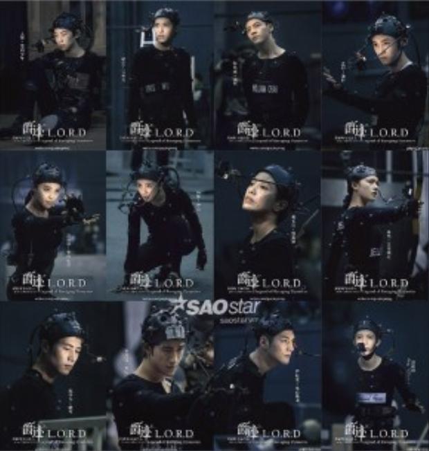 Hình ảnh các diễn viên được gắn chip điện tử để chuẩn bị cho khâu xử lý kỹ xảo 3D.