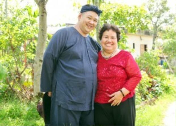 Minh Béo và mẹ.