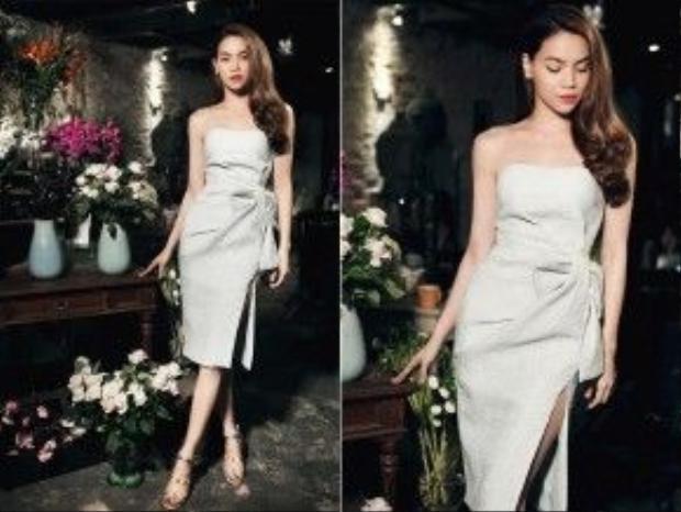Hồ Ngọc Hà vừa gợi cảm, vừa thanh lịch trong mẫu váy chít eo kiêu kì của NTK Lâm Gia Khang.