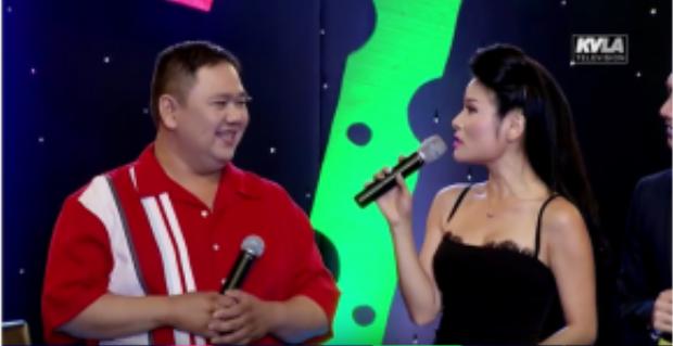 Minh Béo xuất hiện trong chương trình Bộ ba âm nhạc và thời trang.