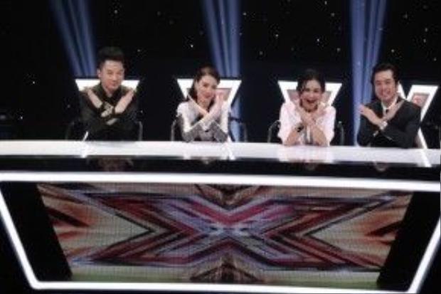 Bốn giám khảo X-Factor Tùng Dương, Hồ Quỳnh Hương, Thanh Lam và Tùng Dương