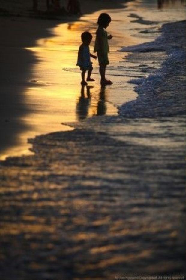 Biển cửa đại trong một buổi chiều tháng 6/2011. Ảnh: Na Sơn.