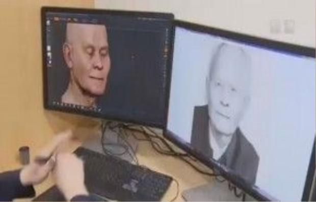 Từ những hình ảnh 2D của người mất lúc còn sống, nhà tang lễ Long Hoacó thể dựng lên được hình mẫu mô phỏng ba chiều với độ chính xác rất cao nhờ công nghệ quét 3D.