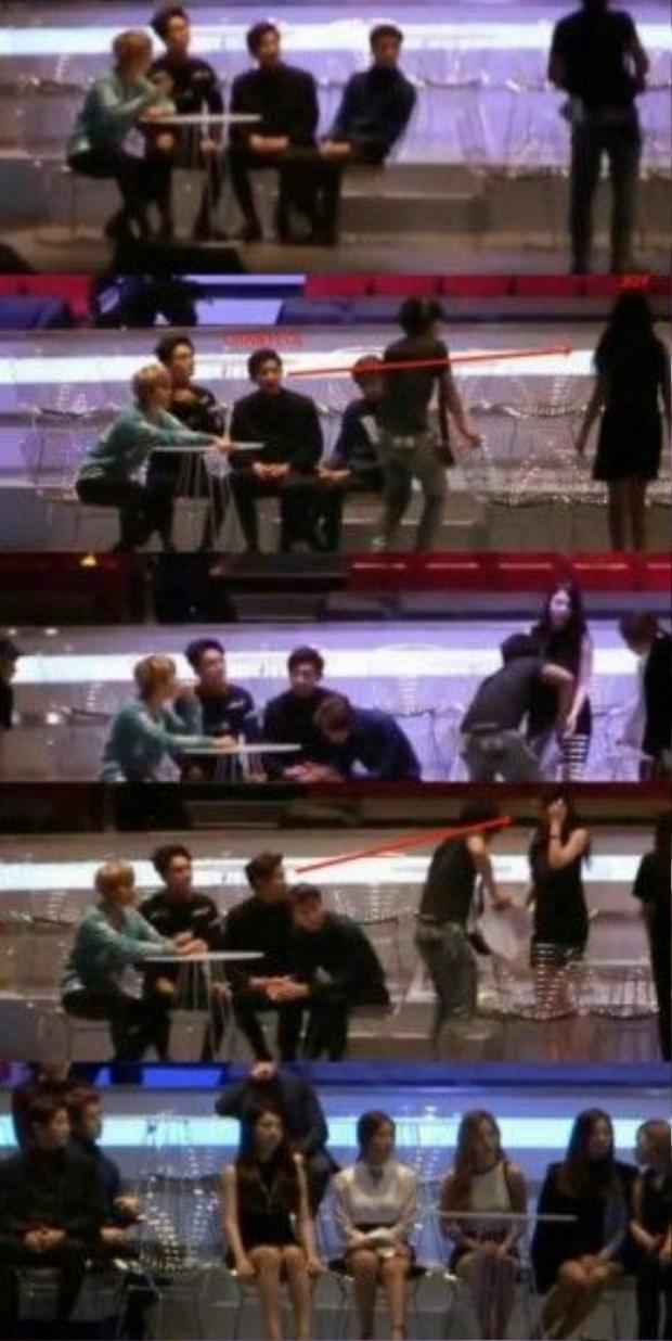 Chanyeon bị bắt gặp nhiều khoảnh khắc chú ý đến cô em gái cùng công ty.