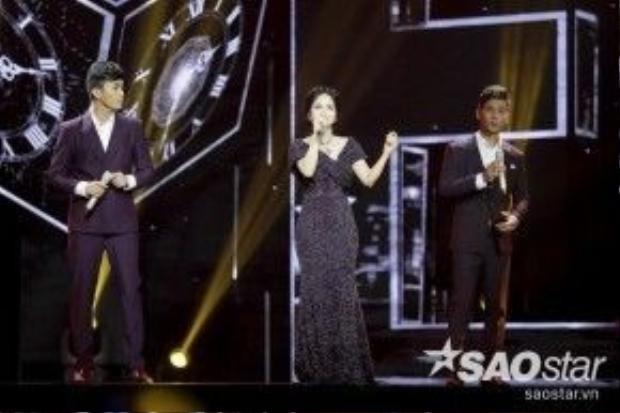 Trường Sơn, Phương Anh cùng Huỳnh Thật tại Liveshow 1.