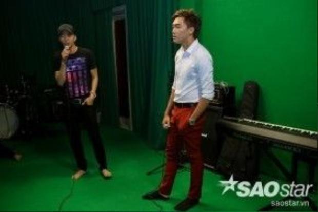 Hai thí sinh còn lại, Trường Sơn và Đình Phước cũng sẽ kết đôi trong một sáng tác của nhạc sĩ Lê Minh Bằng.