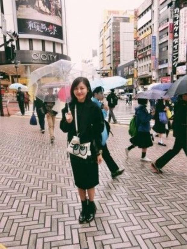 Văn Mai Hương thường mua được nhiều đồ lạ độc ở Tokyo.