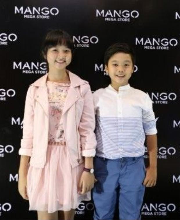 Hai diễn viên nhí tài năng bé Thanh Mỹ và Trọng Khang cũng có mặt tại sự kiện.