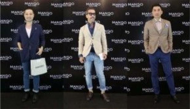 Từ trái qua: Giám đốc sáng tạo Trần Hoàng Dũng (Dzũng Yoko), Fashionisto Thuận Nguyễn cùng Giám đốc sáng tạo Nguyễn Hoàng Anh.