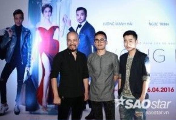 Nhà thiết kế Đức Hùng, Hà Duy và MC Tuấn Hải.