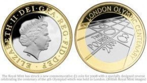 Đồng xu Olympic London 2012.