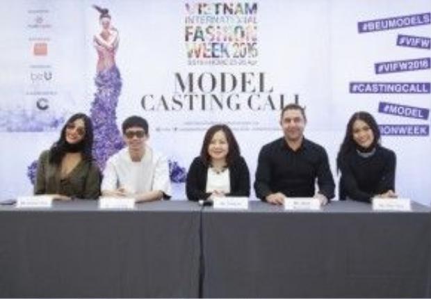 Ban giám khảo của buổi casting bao gồm bà Lê Thị Quỳnh Trang, ông Kovik Ang - Đạo diễn catwalk đến từ Singapore, ông Jason Baumann - Giám đốc điều hành công ty quản lý người mẫu BeU Models, cùng 2 quán quân mùa 2 và mùa 4 của chương trình Vietnam's Next Top Model là người mẫu Hoàng Thùy và người mẫu Mâu Thủy.