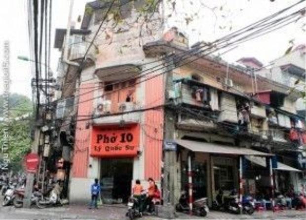 Phở Lý Quốc Sưnằm ngay khu trung tâm Hà Nội, thuận tiện để du khách tìm đến mục sở thị.