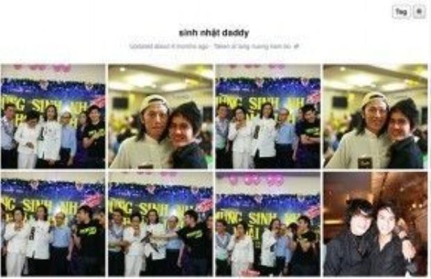 """Thành Vinh đăng tải hình ảnh sinh nhật """"daddy"""" Hoài Linh vào năm 2009."""