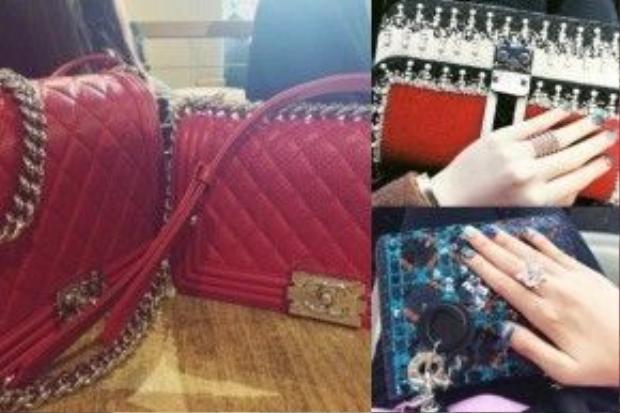 Một phần của những mẫu túi được cô út Anh Sa sử dụng. Trị giá của mỗi chiếc lên đến hàng trăm triệu đồng.