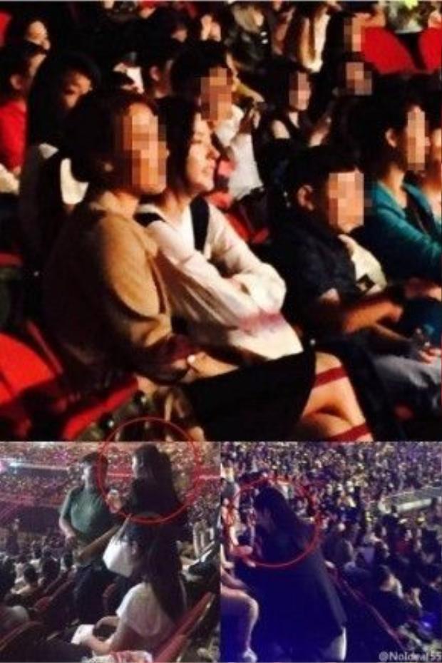 Min Hyo Rin đi xem concert Big Bang.
