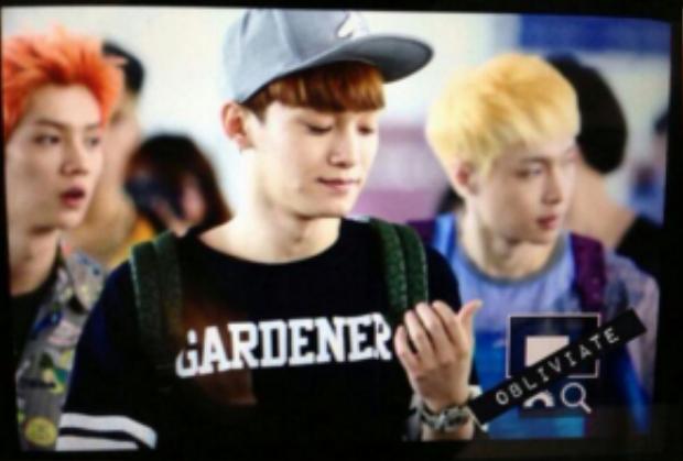 Chen với chiếc áo có chữ Garderner.