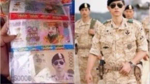 Song Joong Ki bị in hình trên tiền âm phủ…