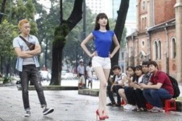 Lương Mạnh Hải với vai diễn quản lý của Ngọc Trinh trong phim Vòng eo 56.