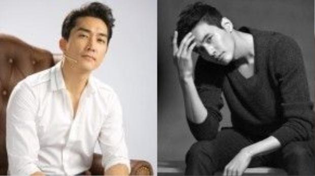 Song Seung Hun và Won Bin.