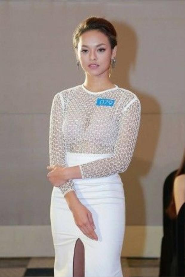 Quỳnh Mai là một trong những thí sinh gây chú ý khi tham dự Hoa hậu biển 2016.