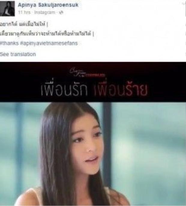 Không quên để tag những người hâm mộ Việt đáng yêu của cô nàng.